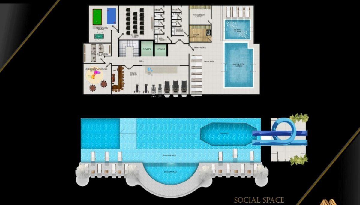 Жилой комплекс с квартирами в стиле Лофт, 600м от пляжа, Авсаллар - Фото 14