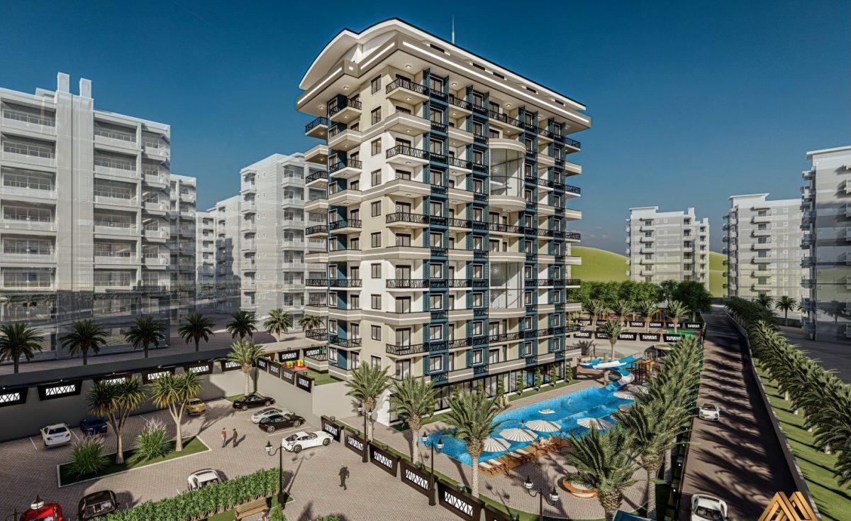 Жилой комплекс с квартирами в стиле Лофт, 600м от пляжа, Авсаллар - Фото 4