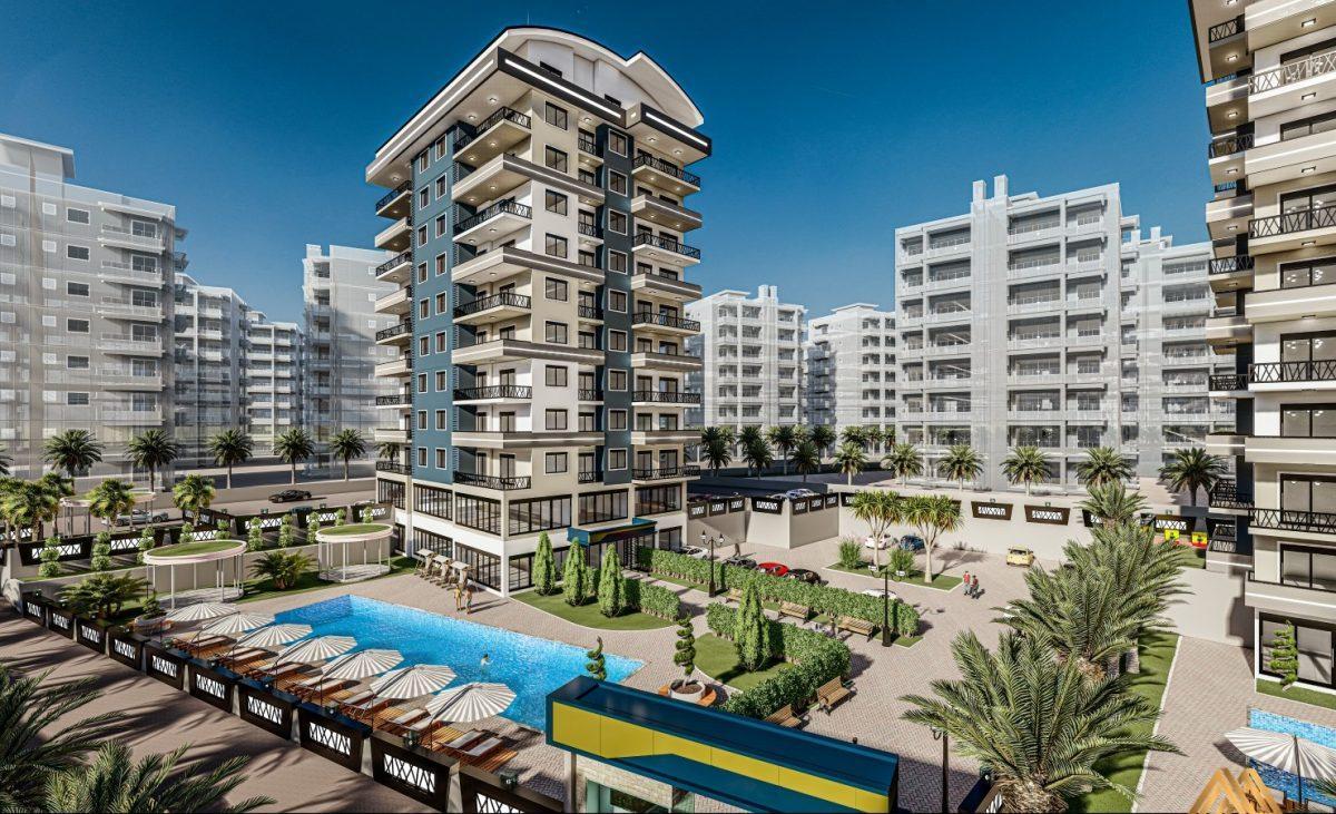 Жилой комплекс с квартирами в стиле Лофт, 600м от пляжа, Авсаллар - Фото 5