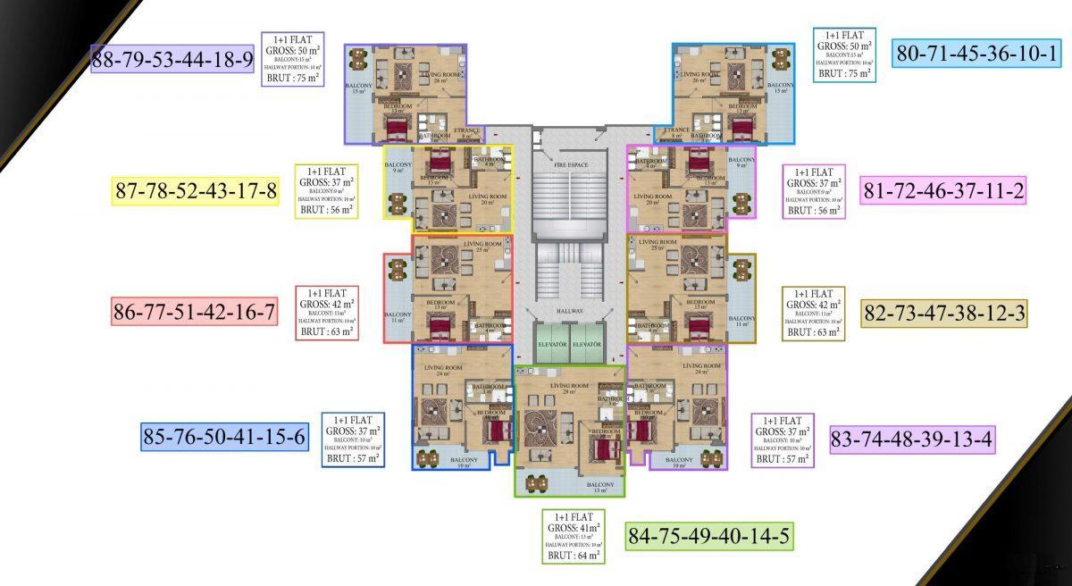 Cовременный жилой комплекс с апартаментами в стиле Loft в самом центре Махмутлара - Фото 22
