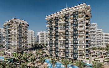 Жилой комплекс с квартирами в стиле Лофт, 600м от пляжа, Авсаллар