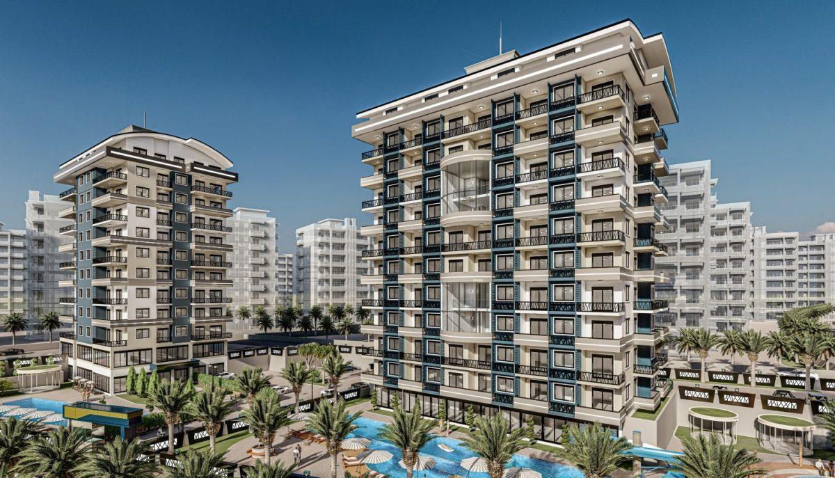 Жилой комплекс с квартирами в стиле Лофт, 600м от пляжа, Авсаллар - Фото 1