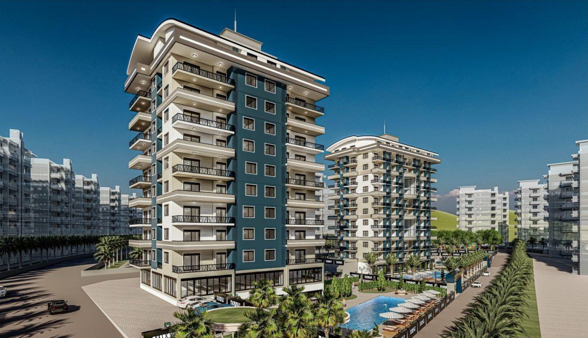 Жилой комплекс с квартирами в стиле Лофт, 600м от пляжа, Авсаллар - Фото 3