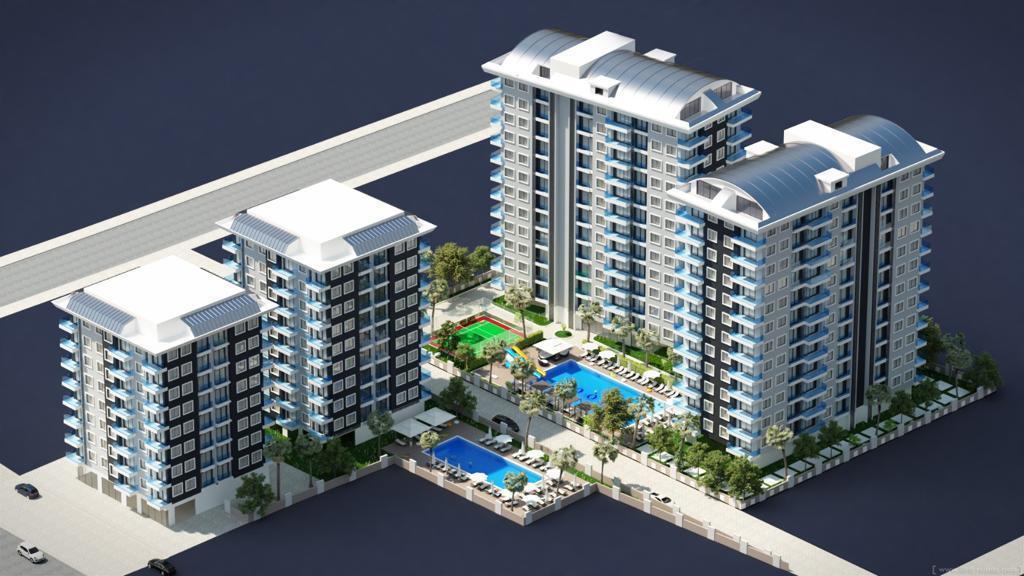 Новый комплекс на начальной стадии строительства в районе Махмутларе - Фото 1