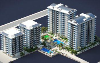 Новый комплекс на начальной стадии строительства в районе Махмутларе