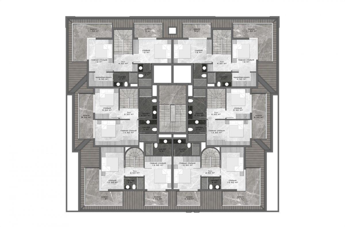 Стильный жилой комплекс с великолепной локацией в самом центре Алании - Фото 31