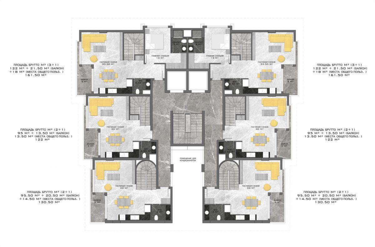 Стильный жилой комплекс с великолепной локацией в самом центре Алании - Фото 32