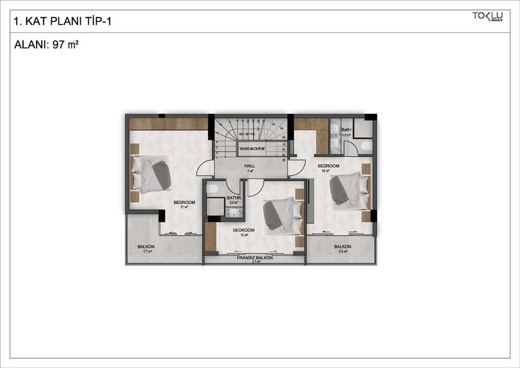 Новый комплекс из 4-х отдельных вилл с личным бассейном и садом - Фото 18