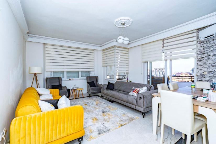 Меблированная трехкомнатная квартира в центре Алании с видом на море - Фото 10