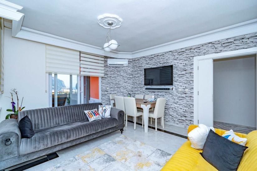 Меблированная трехкомнатная квартира в центре Алании с видом на море - Фото 11