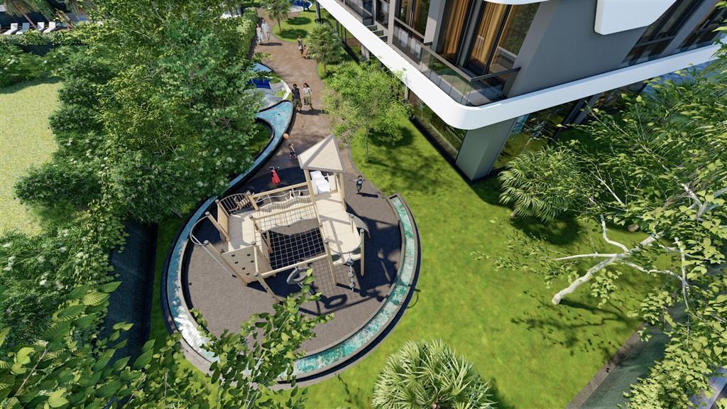 Новый проект с панорамным видом на море в зеленом районе Авсаллар - Фото 10
