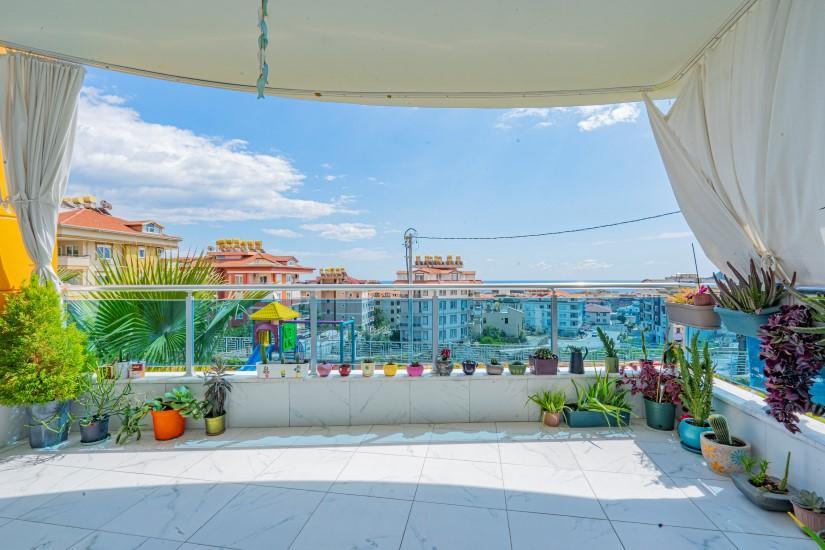Садовый дуплекс 5+1 с видом на Средиземное море - Фото 15