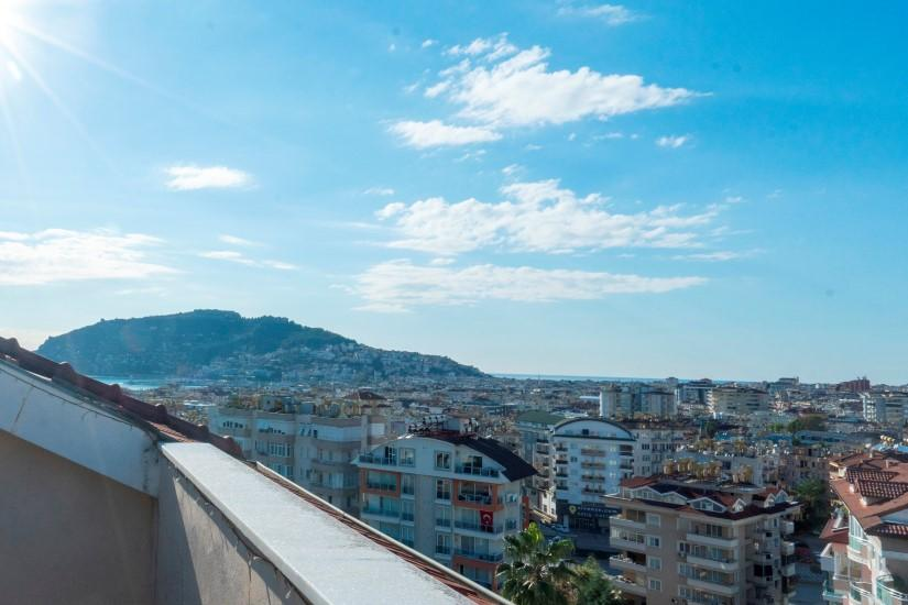 Дуплекс 5+1 с видом на Аланию и Средиземное море - Фото 23