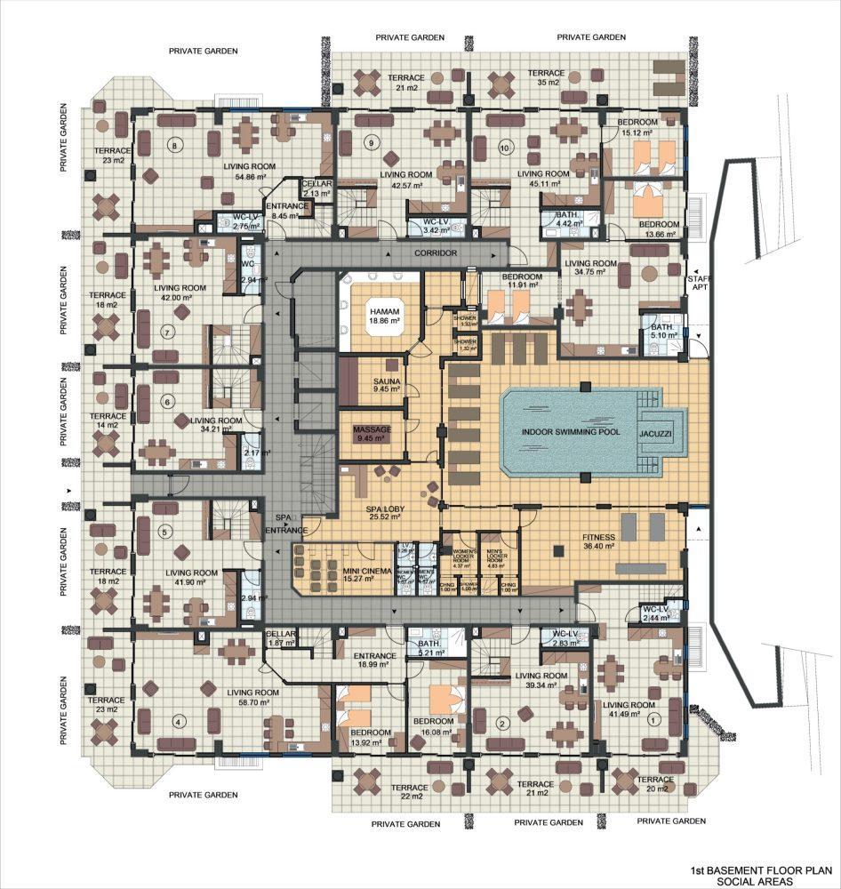Жилой комплекс с концепцией 5 звездочного отеля в районе Каргыджак - Фото 20