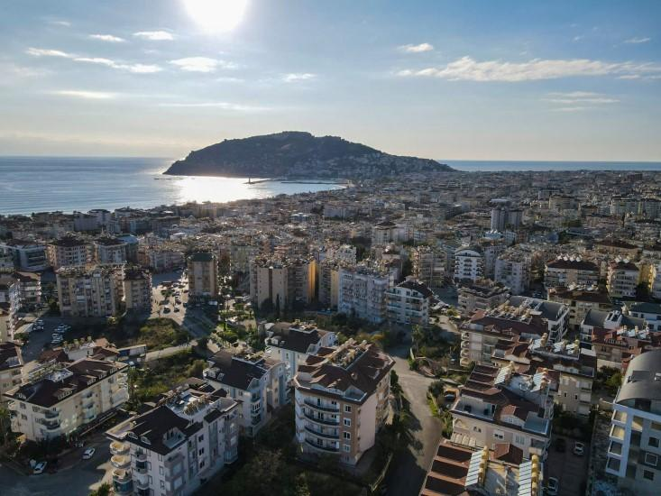 Дуплекс 5+1 с видом на Аланию и Средиземное море - Фото 4