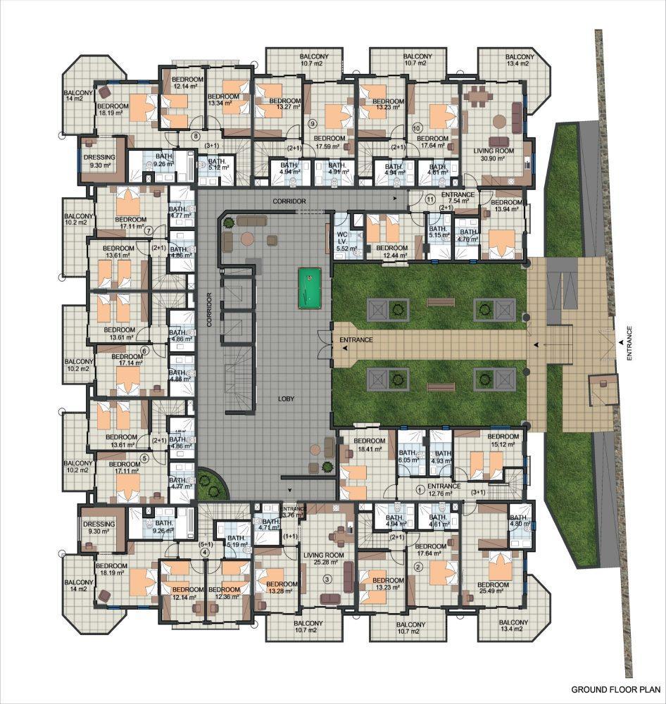Жилой комплекс с концепцией 5 звездочного отеля в районе Каргыджак - Фото 21