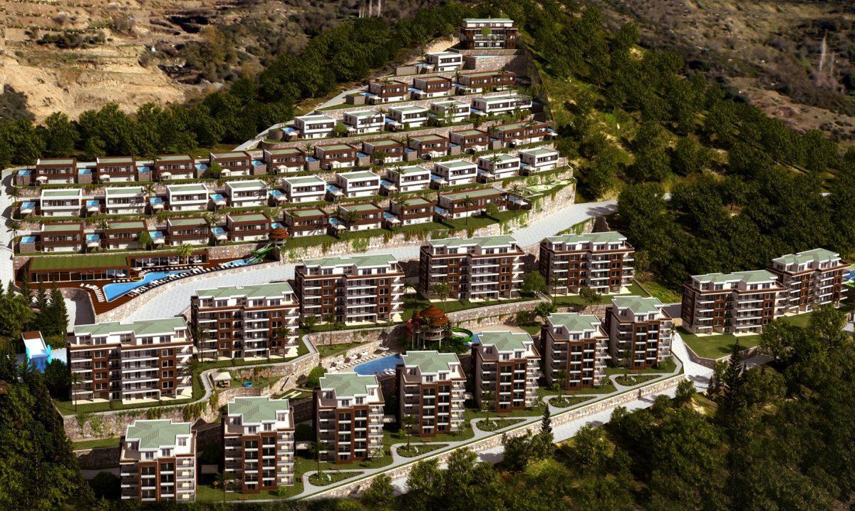 Многофункциональный комплекс апартаментов и вилл класса люкс в районе Каргыджак  - Фото 1