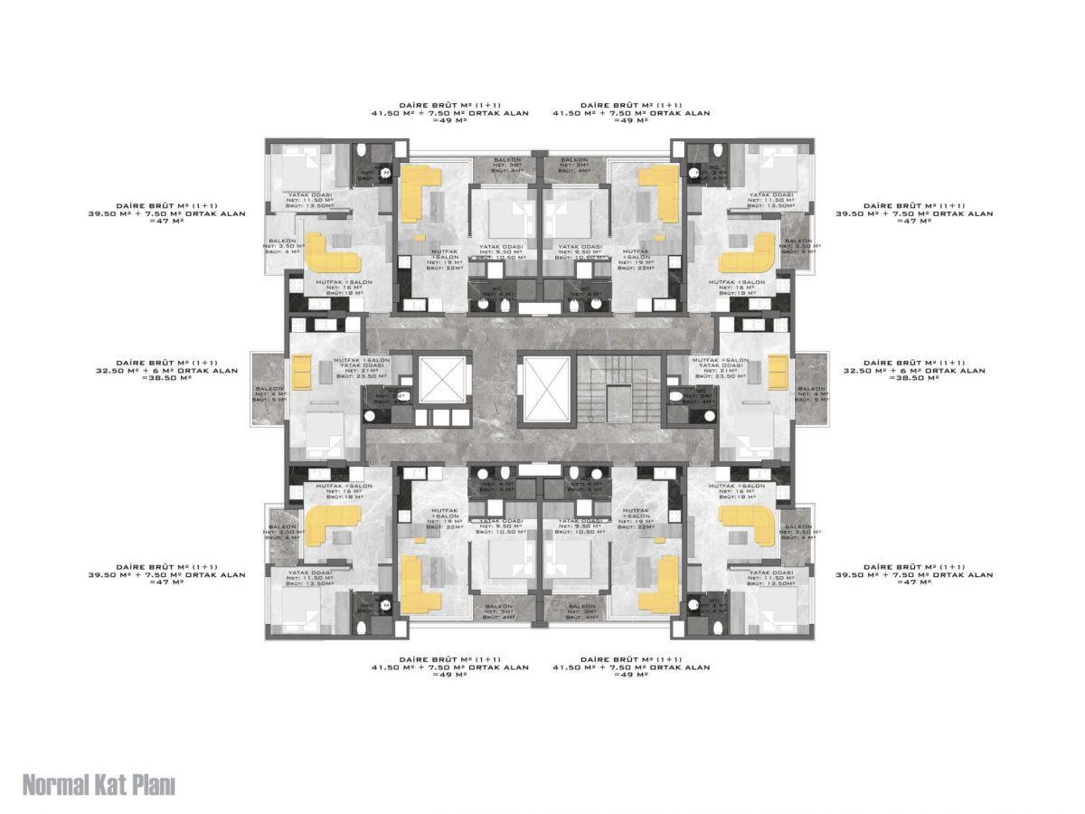Новый стильный комплекс в Центре Алании  - Фото 23