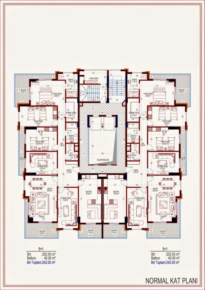 2 квартиры планировкой 2+1 в самом центре Алании - Фото 13