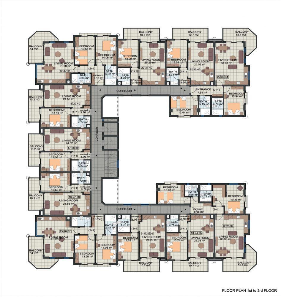 Жилой комплекс с концепцией 5 звездочного отеля в районе Каргыджак - Фото 22
