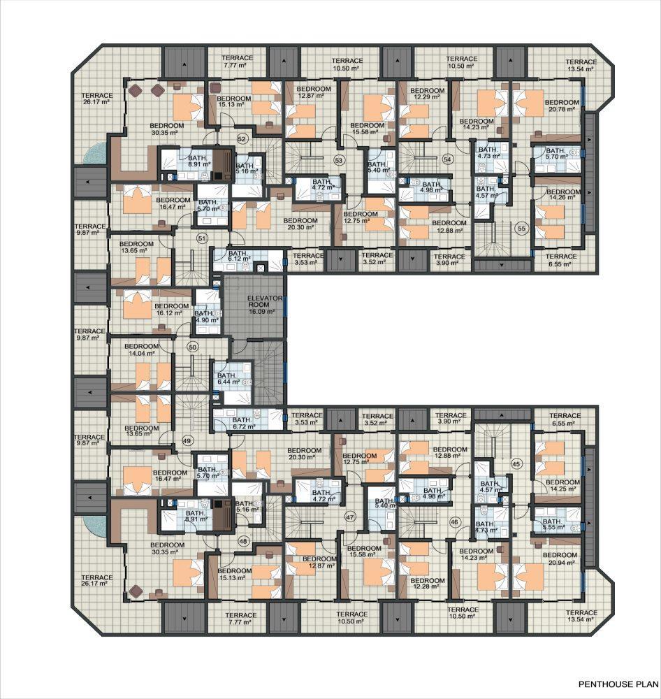 Жилой комплекс с концепцией 5 звездочного отеля в районе Каргыджак - Фото 24