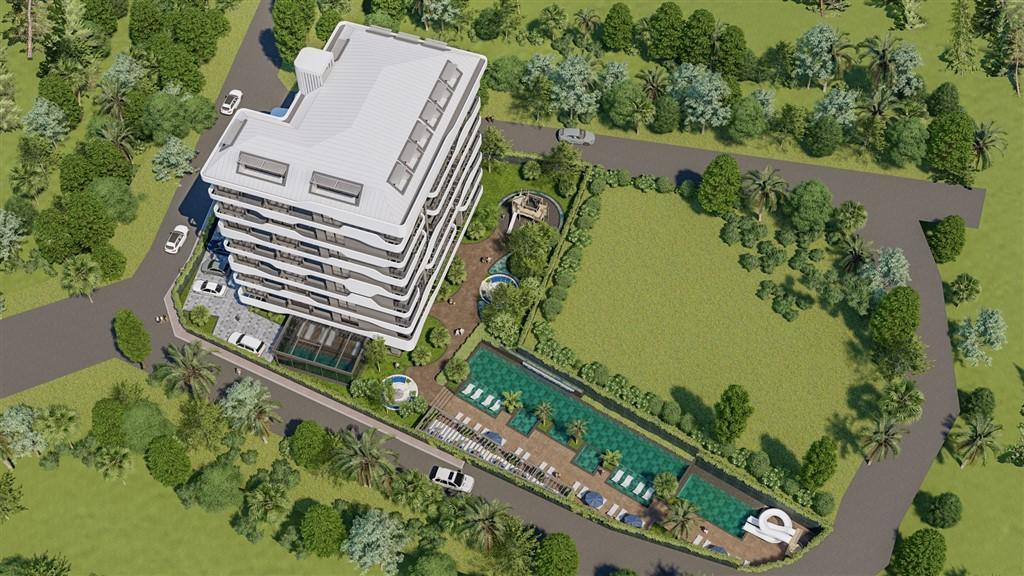 Новый проект с панорамным видом на море в зеленом районе Авсаллар - Фото 8