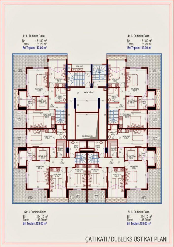2 квартиры планировкой 2+1 в самом центре Алании - Фото 16