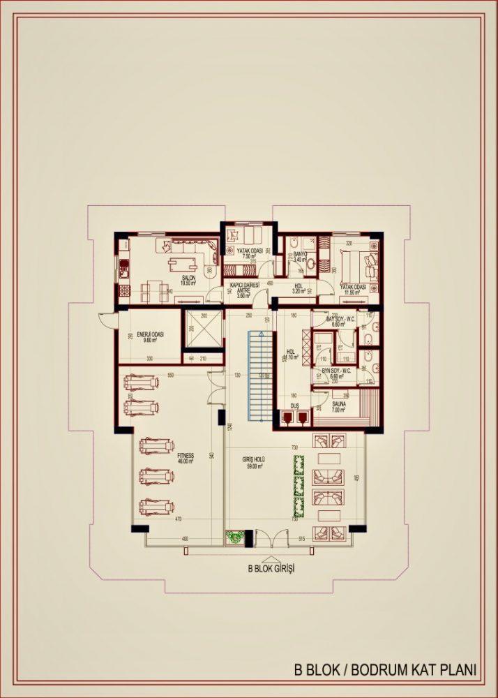 2 квартиры планировкой 2+1 в самом центре Алании - Фото 18