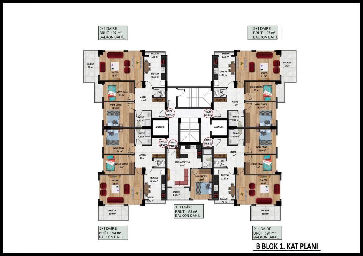 Новый жилой комплекс на этапе строительства в центре Алании - Фото 27