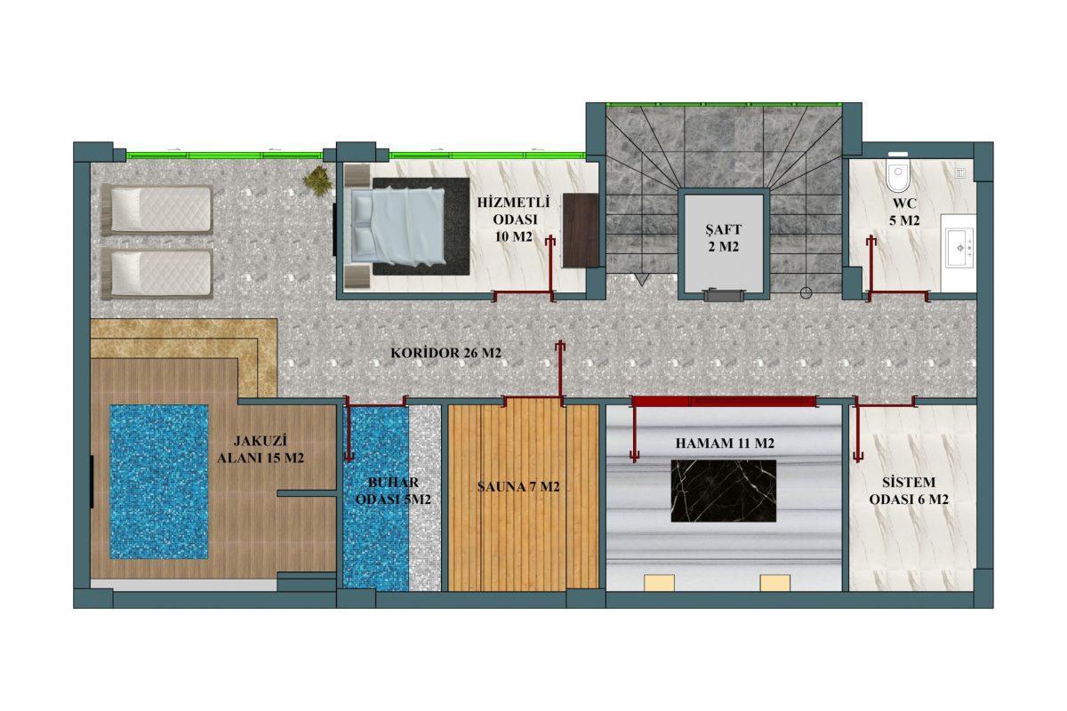 Инвестиционный проект Вилл класса LUXE в районе Каргыджак - Фото 13