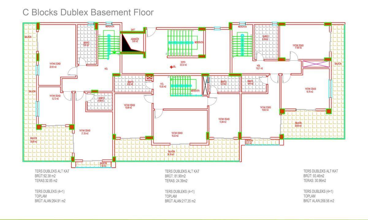 Многофункциональный комплекс апартаментов и вилл класса люкс в районе Каргыджак  - Фото 37
