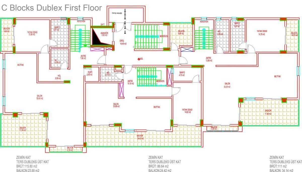 Многофункциональный комплекс апартаментов и вилл класса люкс в районе Каргыджак  - Фото 38