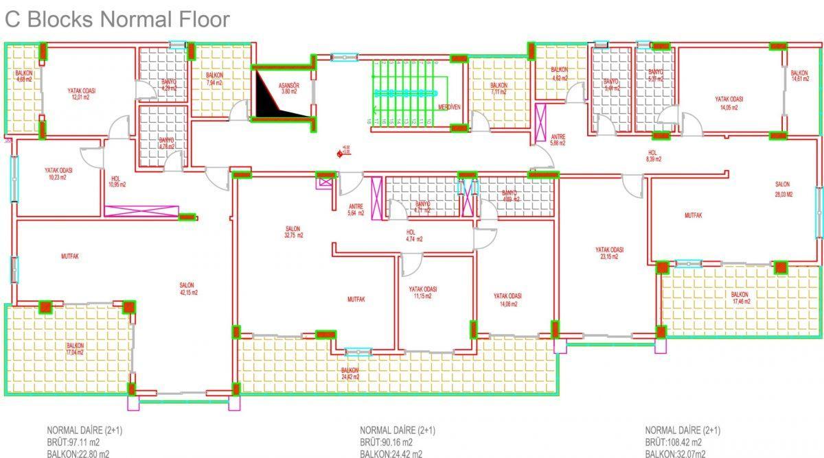 Многофункциональный комплекс апартаментов и вилл класса люкс в районе Каргыджак  - Фото 39