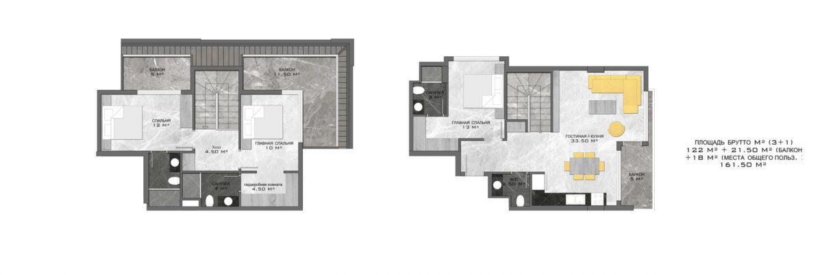 Стильный жилой комплекс с великолепной локацией в самом центре Алании - Фото 30