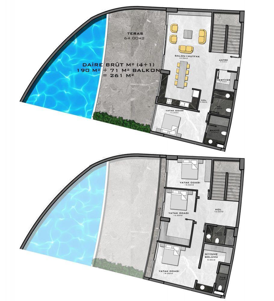 Жилой комплекс премиум-класса на берегу моря, в районе Каргыджак - Фото 31