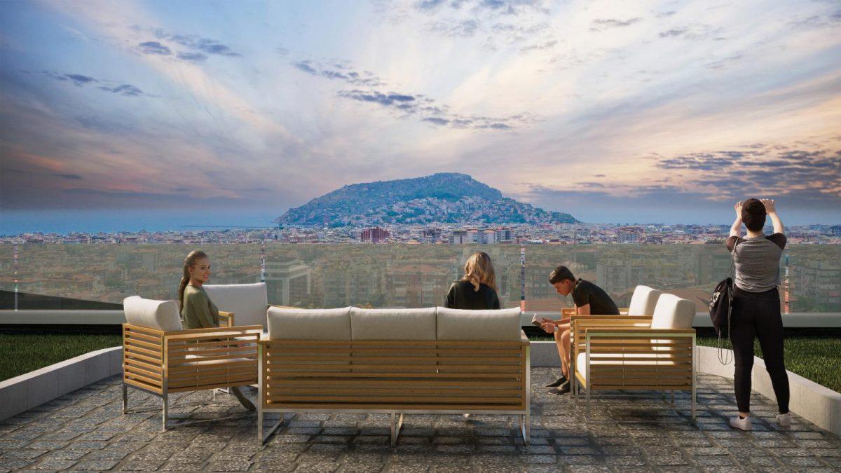 Жилой комплекс с панорамными видами в центре Алании - Фото 9