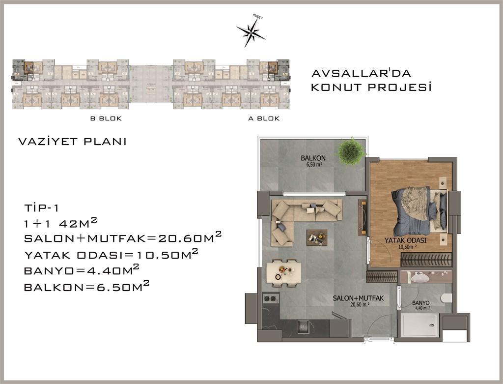 Новый жилой комплекс в районе Авсалар - Фото 25