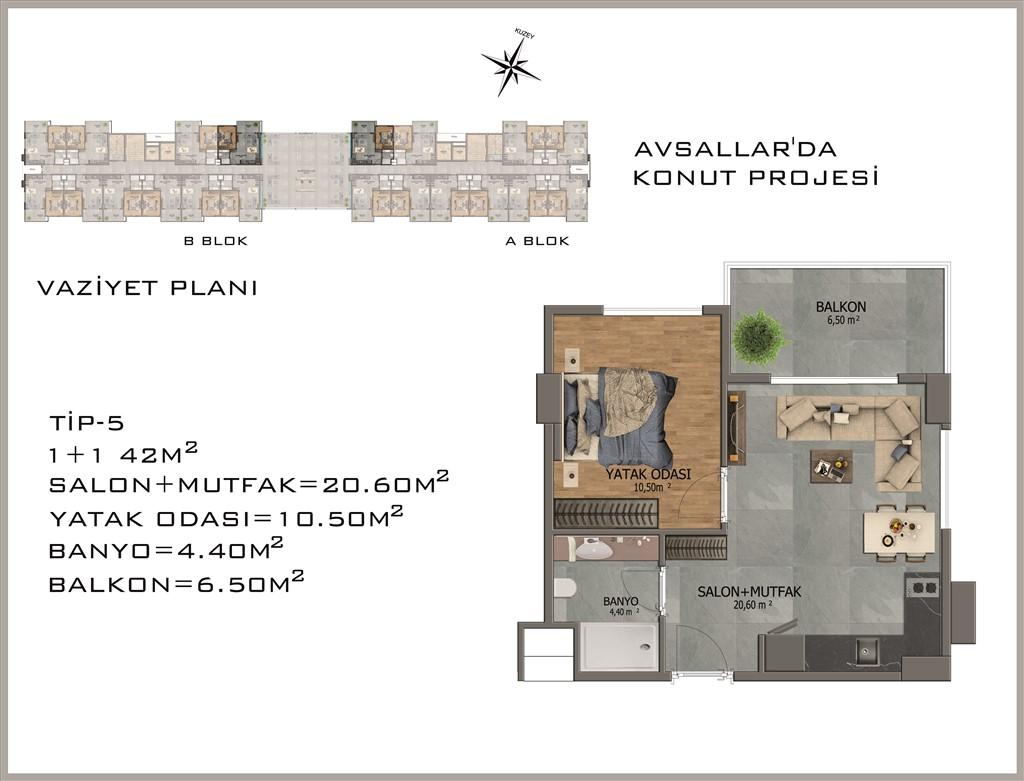 Новый жилой комплекс в районе Авсалар - Фото 29