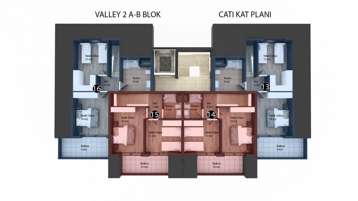 Новый инвестиционный проект в элитном районе Алании Кестель - Фото 20