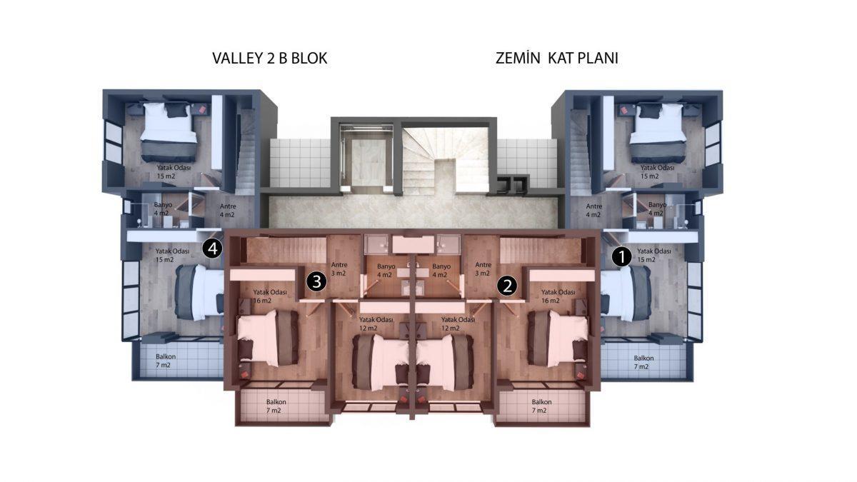Новый инвестиционный проект в элитном районе Алании Кестель - Фото 23