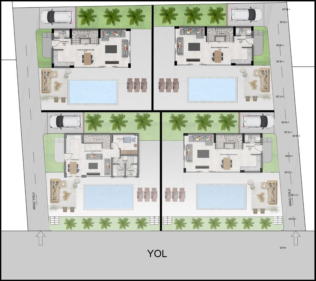 Новый комплекс из 4-х отдельных вилл с личным бассейном и садом - Фото 19