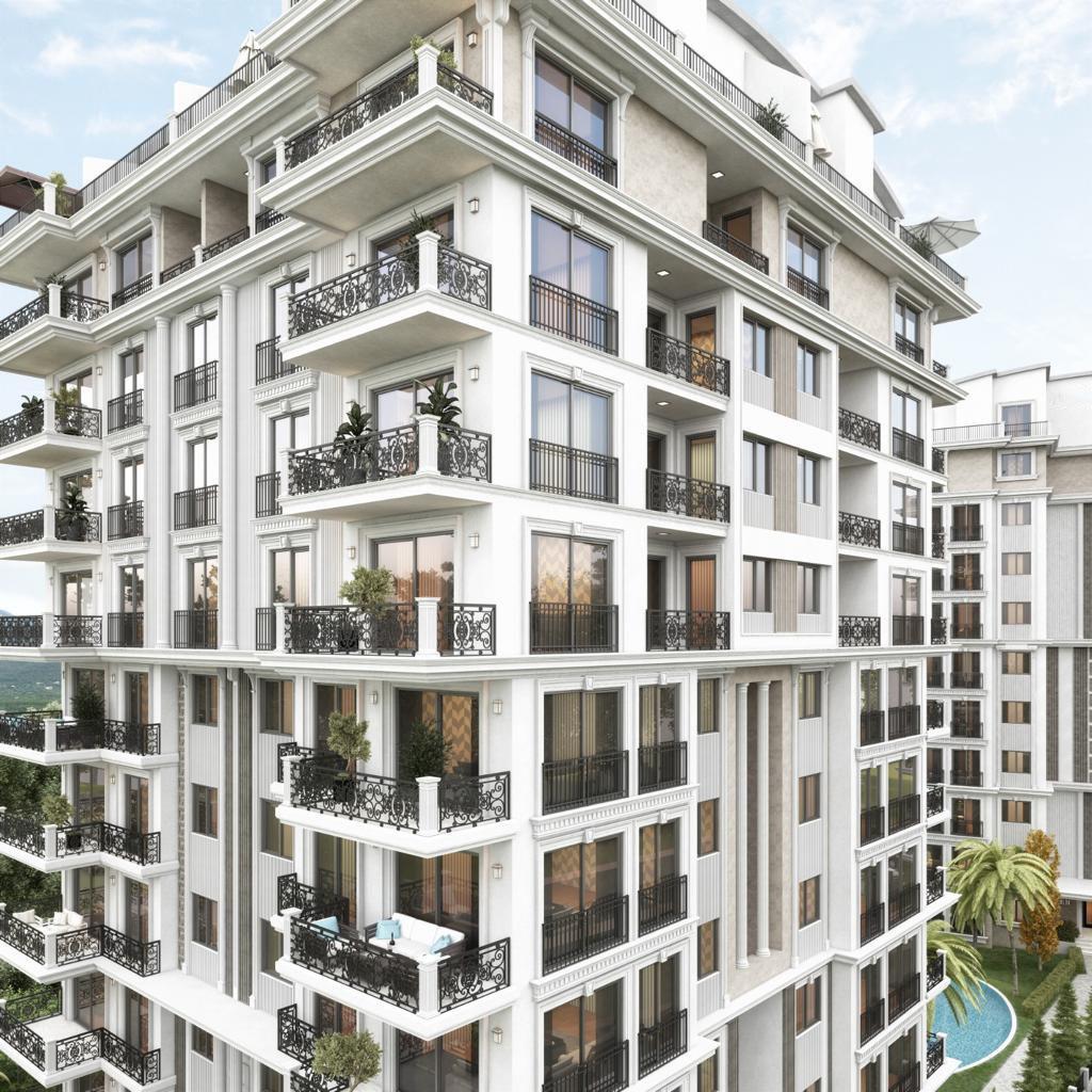 Новый жилой комплекс на этапе строительства в центре Алании - Фото 3