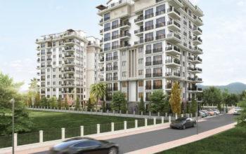 Новый жилой комплекс на этапе строительства в центре Алании
