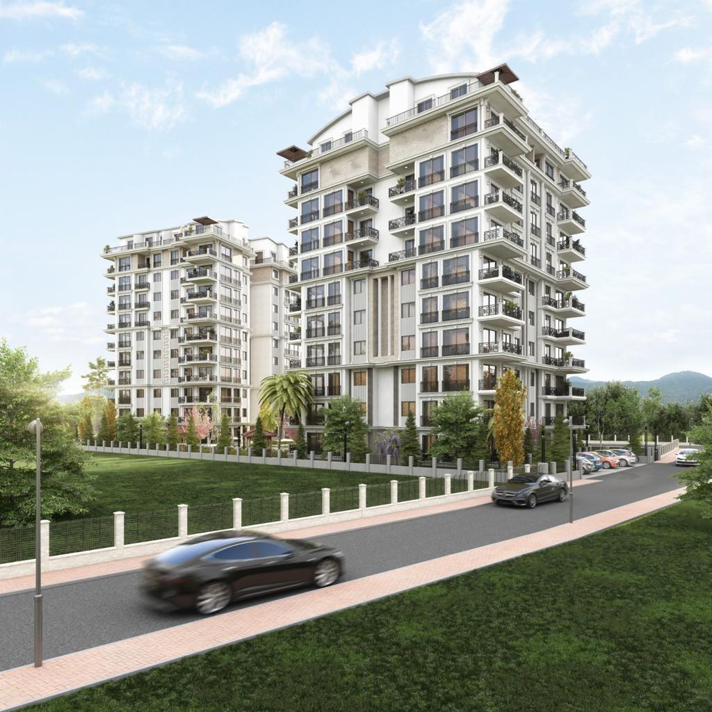 Новый жилой комплекс на этапе строительства в центре Алании - Фото 1