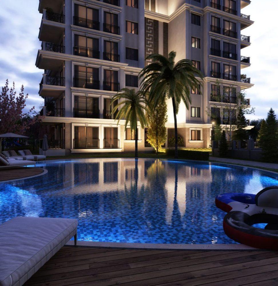 Новый жилой комплекс на этапе строительства в центре Алании - Фото 17