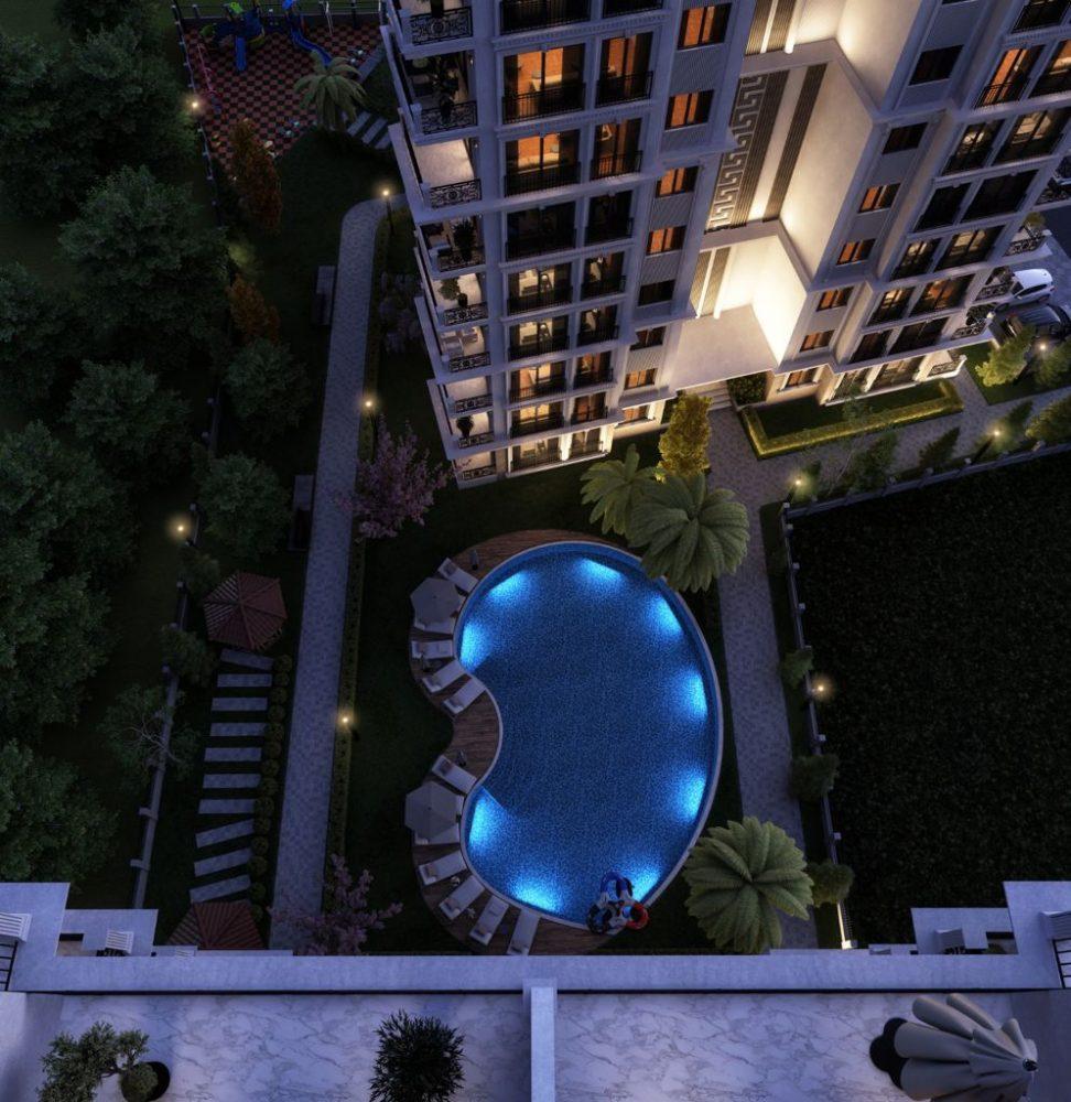 Новый жилой комплекс на этапе строительства в центре Алании - Фото 18