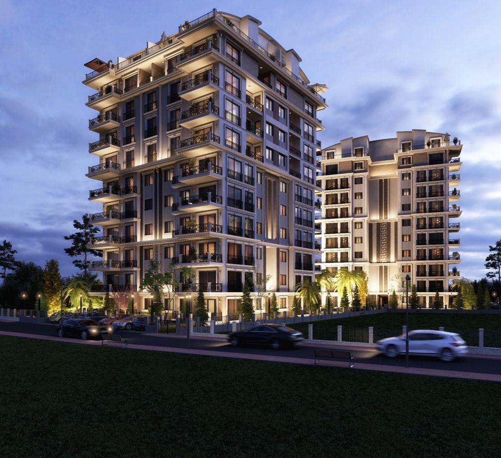 Новый жилой комплекс на этапе строительства в центре Алании - Фото 19