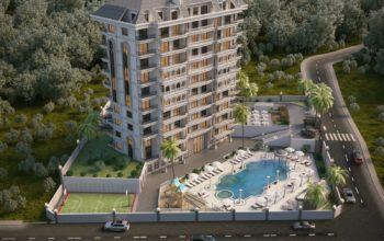 Жилой комплекс с инфраструктурой пятизвездочного отеля в районе Авсаллар