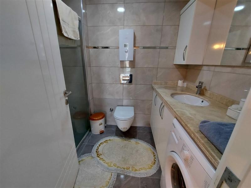 Квартира 2+1 с мебелью и техникой в Махмутларе в 100 метров до моря - Фото 14