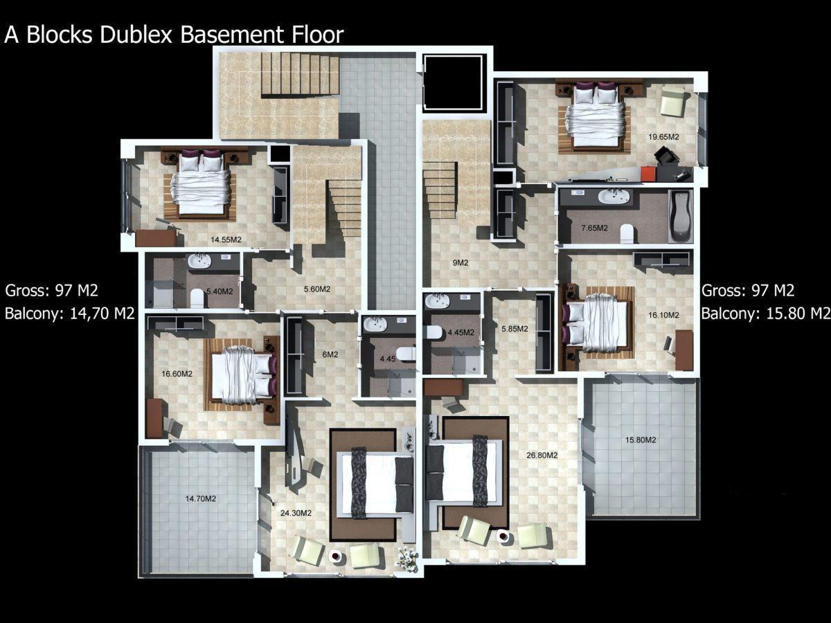 Многофункциональный комплекс апартаментов и вилл класса люкс в районе Каргыджак  - Фото 22